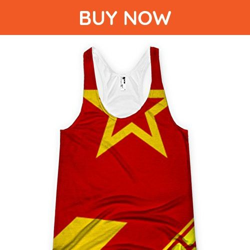 Flag of the next soviet union allover printed American Apparel Racerback Tank - Cities countries flags shirts (*Amazon Partner-Link)