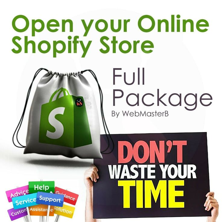 Shopify dropshipping store Website Business, Open your