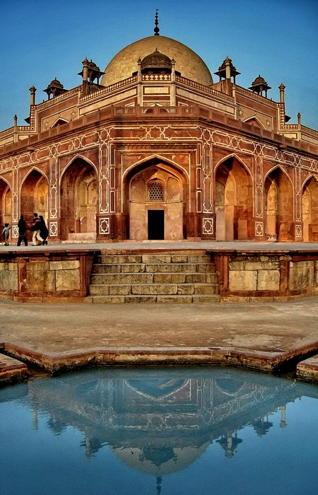 With it's weathered but timeless Sandstone, water channel bifurcated gardens, and blossoming lillies Humayun's Tomb, Delhi, is a must visit while in the city.