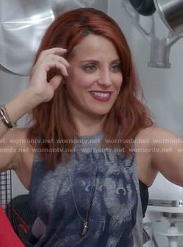 Jo's fox graphic  tank on Girlfriends Guide to Divorce.  Outfit Details: http://wornontv.net/55022/ #GG2D