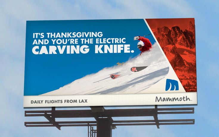 Creative billboard, perfect for the Thanksgiving holiday