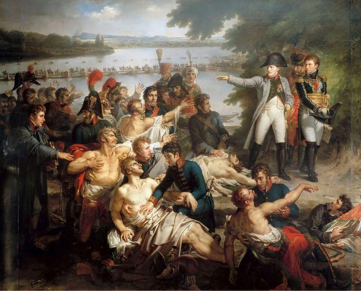 Шарль Мейнье - Возвращение Наполеона на о-в Лобау после битвы при Эсслинге Асперн-Эсслингская битва — сражение, в котором Наполеон сделал попытку переправиться через Дунай и остаться незамеченным противником. Но ему это не удалось. Эрцгерцог Карл атаковал переправляющихся солдат наполеоновской армии. Эта битва была первой серьёзной неудачей Наполеона