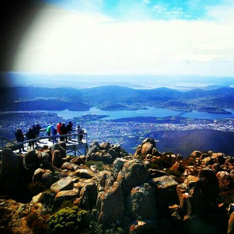 - Hobart city... Mountain view