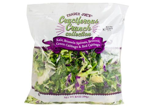 Cruciferous Crunch Collection  of Chopped Kale, Brussels Sprouts, Broccoli and Green Cabbage & Red Cabbage