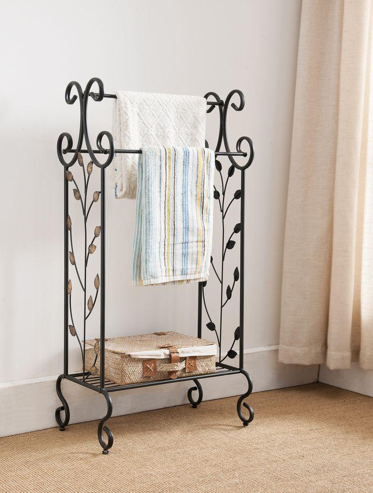 best 25 free standing towel rack ideas on pinterest. Black Bedroom Furniture Sets. Home Design Ideas