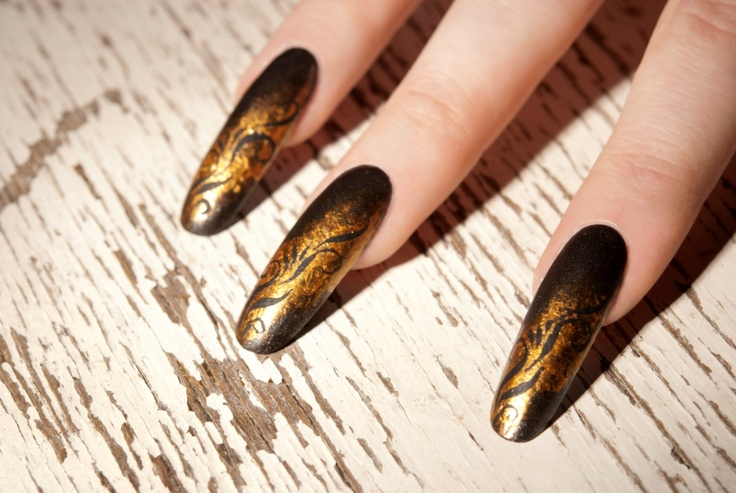 Gold impressions. Great nails!
