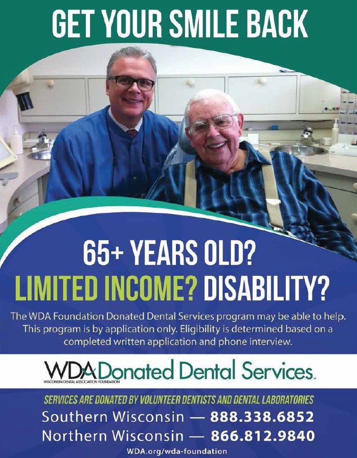 Donated Dental Services – Dental Health Foundation #online #donation http://donate.nef2.com/donated-dental-services-dental-health-foundation-online-donation/  #donated dental services # Donated Dental Services The mission of the WDA Foundation s Donated Dental Services (DDS) program is to help bring needed dental care to Wisconsin residents who are unable to afford treatment because of a limited income that is clearly linked to a permanent disability or advanced age (65 and older). This…