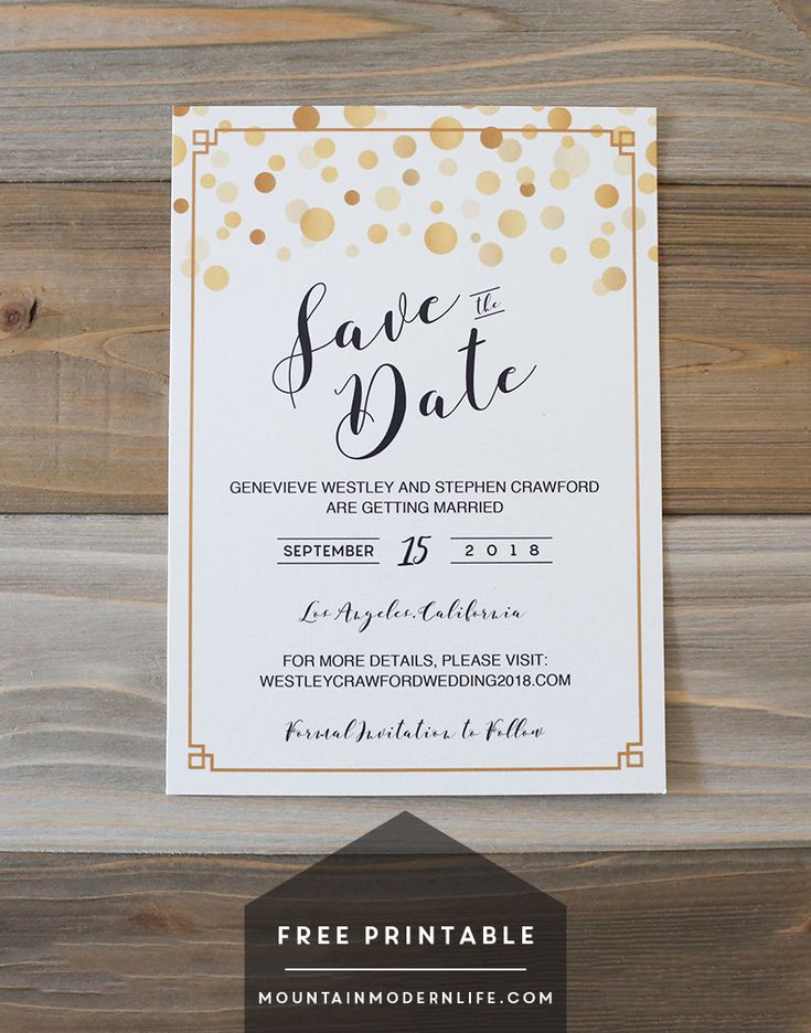 17 best images about diy wedding projects tutorials on pinterest printable menu wedding for Free printable save the date cards