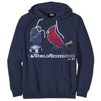 St. Louis Cardinals 2013 MLB World Series Bound Participant Trophy Pullover Hoodie - Navy Blue