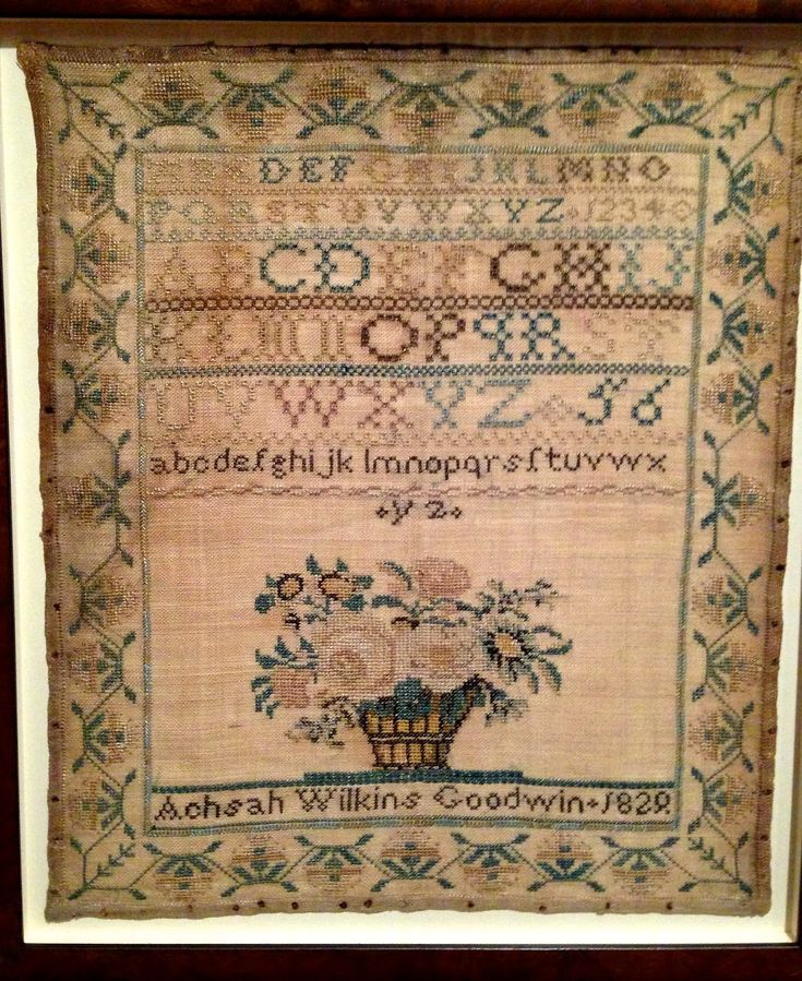 510 Best Images About Antique Alphabet Samplers On