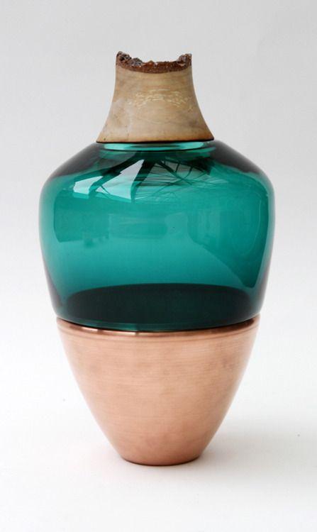 glass art vase