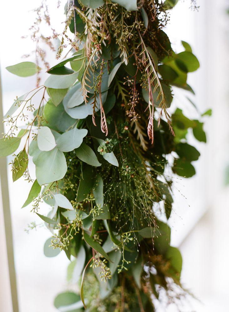 Greenery Garland Ceremony Decor | Wedding greenery, The o ...