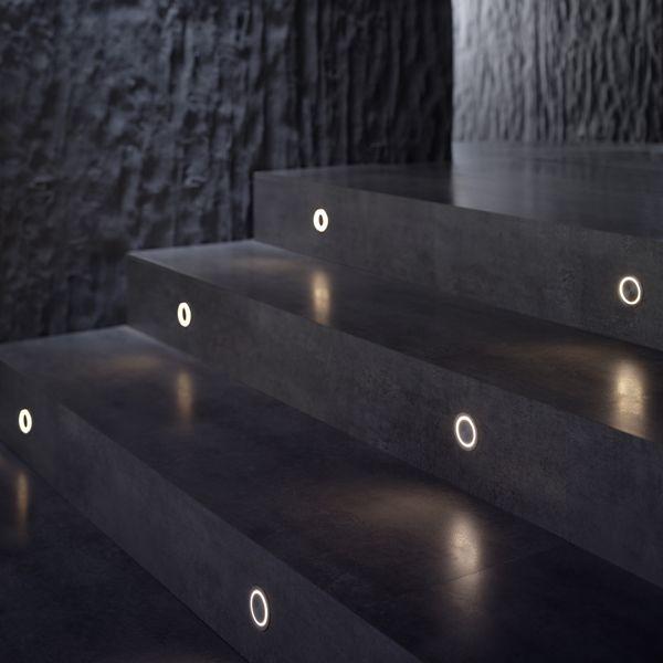Modern Step Lighting Inset Into Concrete Steps Flos Lighting   G O  Http://ecc