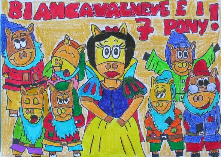 Menzione Speciale nella sua fascia di età della terza edizione: ANGELICA DE FACI - 10 anni Scuola primaria Don Milani Camponogara (VE) Titolo: Biancavalneve e i 7 pony