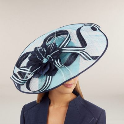 Jacques Vert Saucer Hat with Feather and Loop Detail- at Debenhams.com