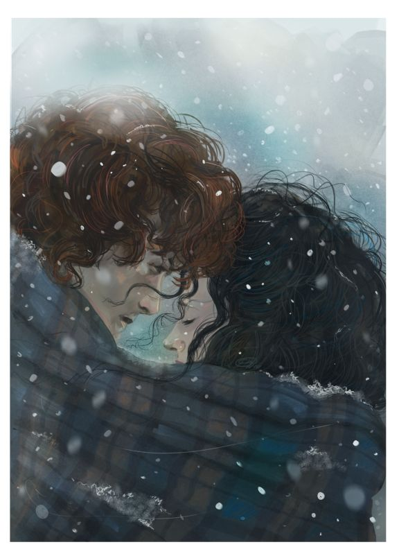sigh…if you're gonna freeze out in the highlands, best be under himself's plaid... credit: girlfrog.tumblr.com