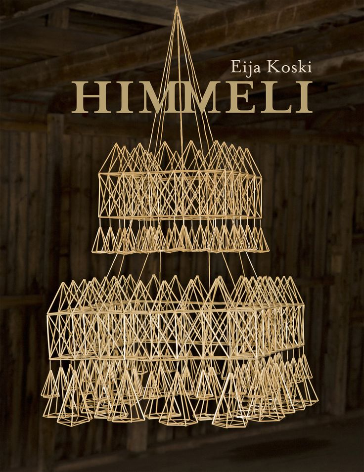 Himmeli, straw crafts with symbol meaning and often made for Christmas. A popular tradition in Finland since ages. This book by Eija Koski newly launched with all sorts of himmelis, both for modern and traditional interior.