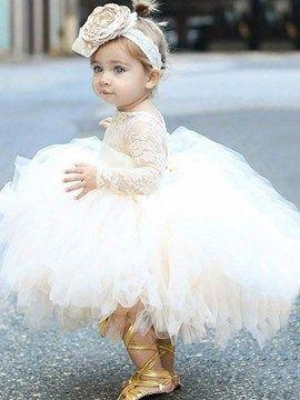 Entzückende Spitze Tüll Ballkleid Blumenmädchen Kleid   – Kleines Wunder
