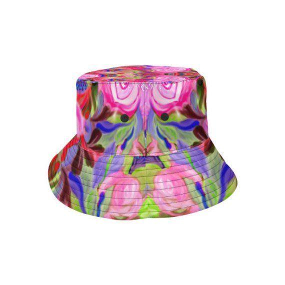Bucket hat- women's hat-formal hat- hand painted original design- premium co… … – Hats