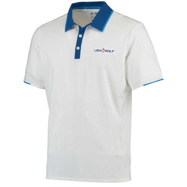 adidas USA Golf Performance climacool Polo - White/Blue