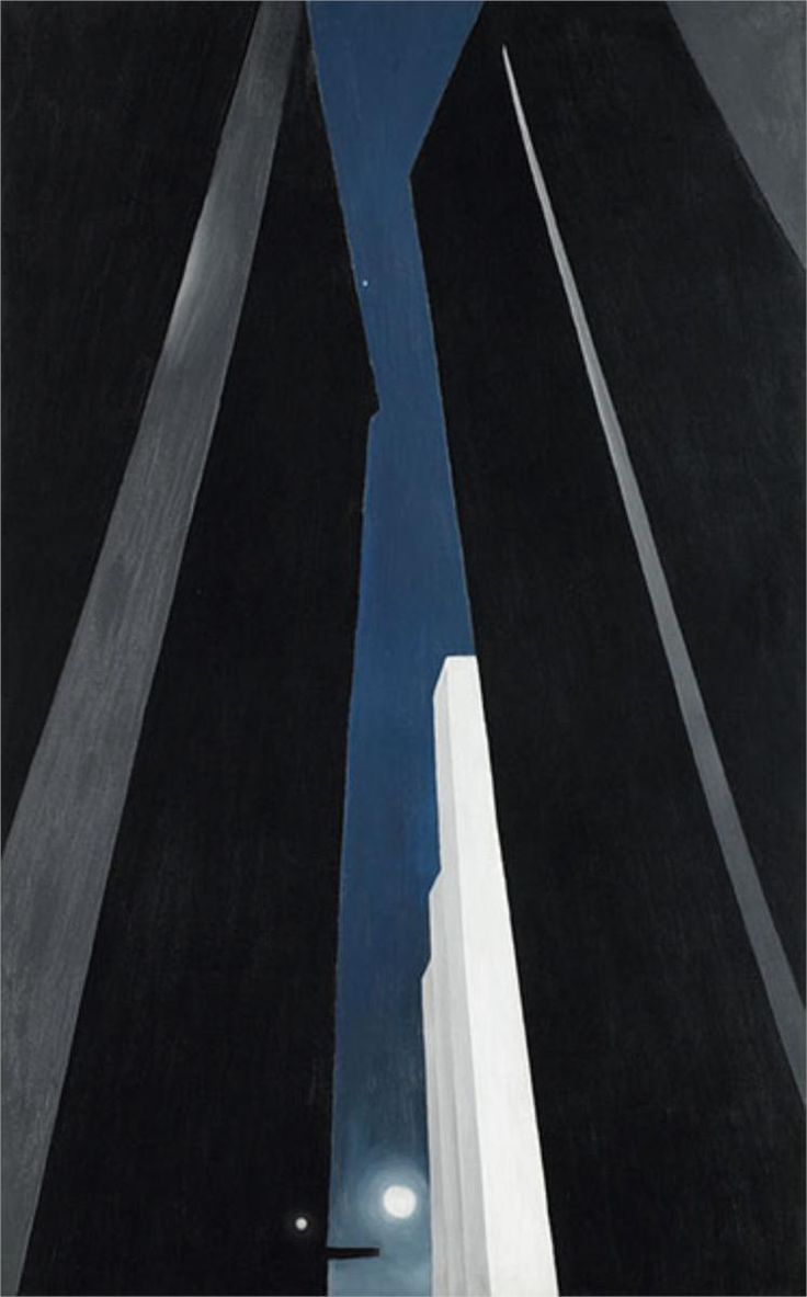 Her New York paintings are actually my favorite. Georgia OKeeffe - City Night