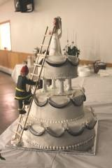 firefighter wedding cake. @Jess Liu Koontz, I totally thought of you and Byron!