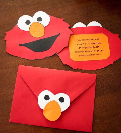 101 best Sesame Street images – Homemade Elmo Birthday Invitations