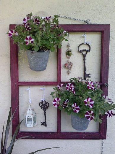 Mit einem alten Fenster dekorieren! 20 kreative Wege, Sie zu inspirieren … – Stefania Corsaro
