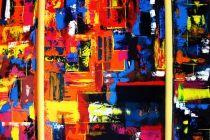 ROMANTISCHE NACHT, Acryl auf Leinwand, 80x20 cm / 80x60 cm / 80x20 cm gemalt von Sascha Raniszewski
