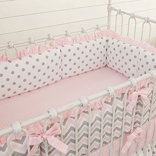Pink and Gray Chevron Crib Bumper with Ruffle Carousel Designs http://www.amazon.com/dp/B00JVY10X2/ref=cm_sw_r_pi_dp_t7Naub0TA78SX
