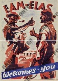 1944 GREECE NATIONAL LIBERATION FRONT PROPAGANDA POSTER - BRITISH ALLIES | eBay