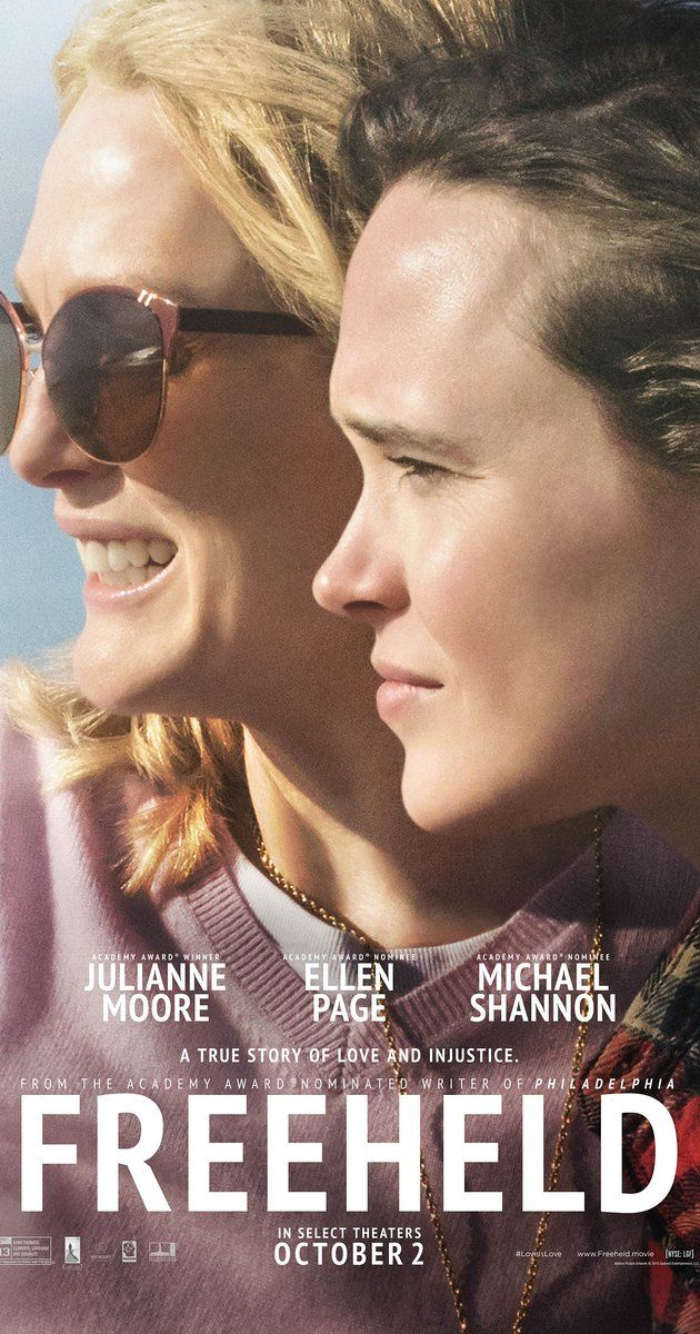 """Directed by Peter Sollett.  With Julianne Moore, Ellen Page, Steve Carell, Michael Shannon. New Jersey police lieutenant, Laurel Hester, and her registered domestic partner, Stacie Andree, both battle to secure Hester's pension benefits when she is diagnosed with terminal cancer. """"Inspirational story, great performances, tearjerking bio-pic. Keep the Kleenex handy!"""""""