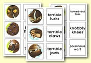 'The Gruffalo' matching cards - Gruffalo Descriptions: zelf Ned. tekst toevoegen