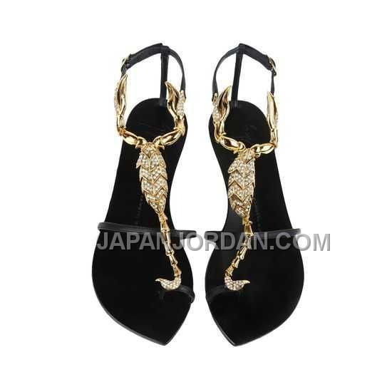 http://www.japanjordan.com/giuseppe-zanotti-womens-crystal-flat-sandals-black-leather-20mm.html GIUSEPPE ZANOTTI WOMENS CRYSTAL FLAT SANDALS 黑 LEATHER 20MM オンライン Only ¥16,530 , Free Shipping!