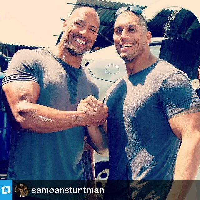 Cousins. The Rock, Dwayne Johnson and Tanoai Reed.  OMG, MY DREAMS HAVE COME TRUE.