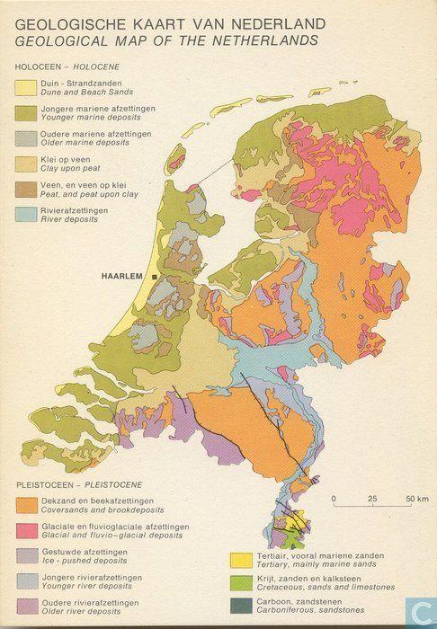 Geologische kaart van Nederland