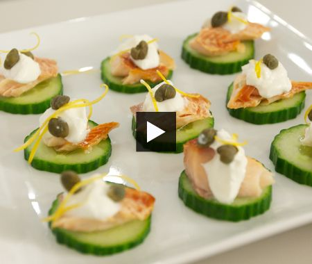 Or on cucumber slices  - Easy Hors D'Oeuvres