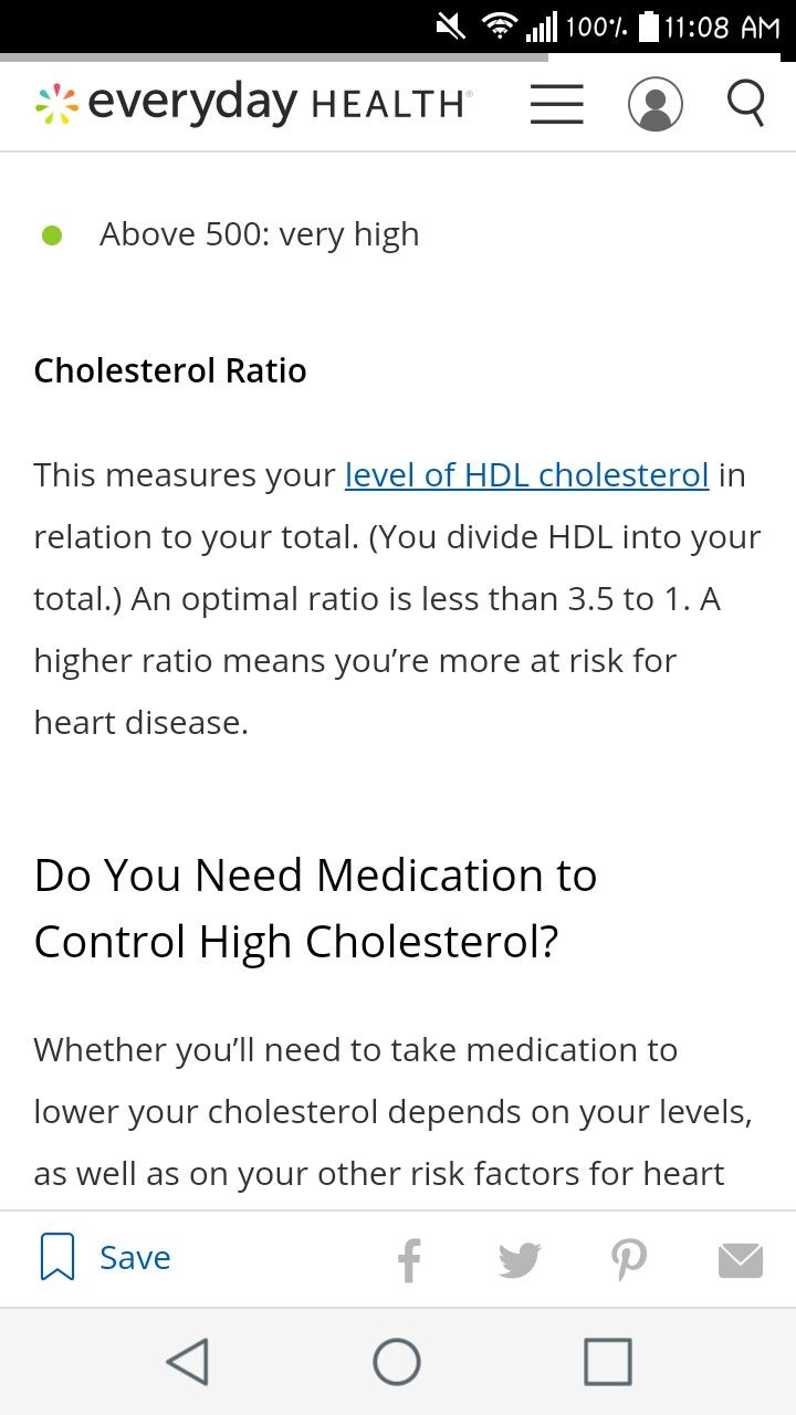 Cholesterol balance ratio key to test. Explained divide total by hdl level