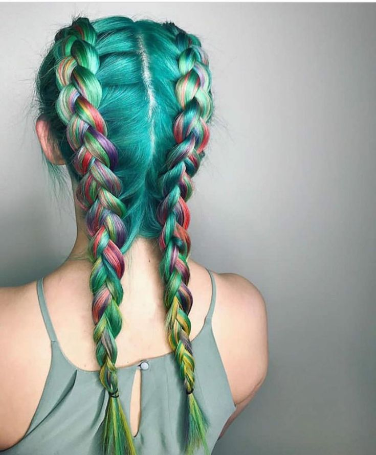 "119 Me gusta, 3 comentarios - Mary Gardner (@hairfairymary) en Instagram: ""TBT to the fun tropical rainbow hair I did """