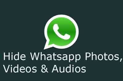 Hide Whatsapp Photos videos audio files from gallery