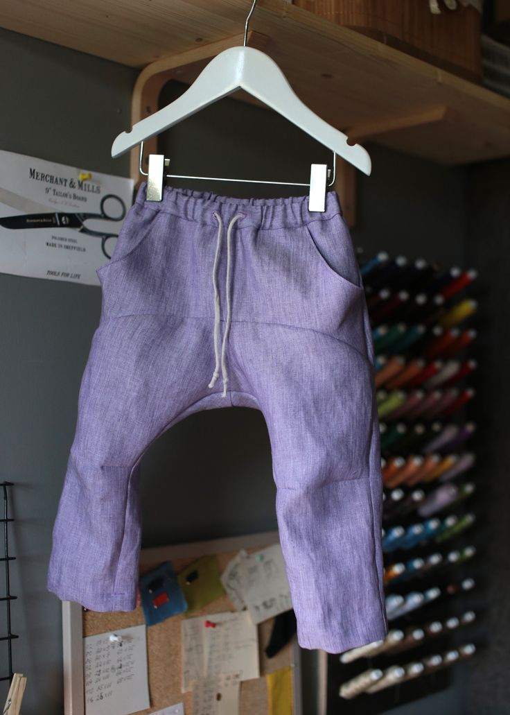 Lavender linen boys harempants, limited edition, made by ZanziBach