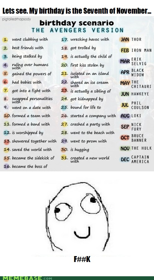 went on a date with Nick Fury... I just can't even imagine what that'd be like...