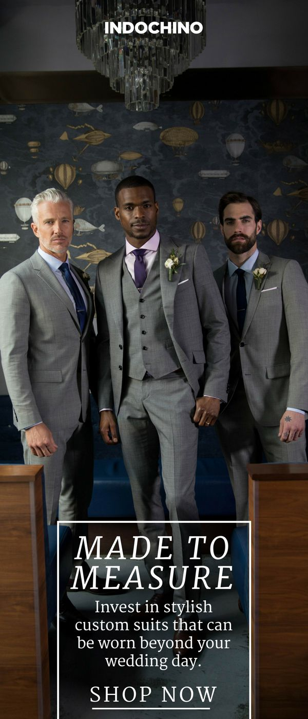 It's called your big day for a reason -- every detail of your wedding is a reflection of who you are. For a celebration this epic, generic suit rentals for the groom and his groomsmen won't cut it. Indochino builds expertly tailored, customized suits to perfectly match your wedding's theme and budget.