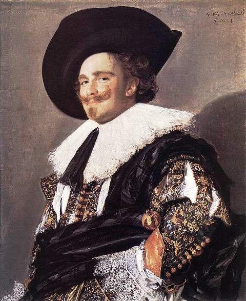 Frans Hals – The Laughing Cavalier, 1624 - read at http://www.arteeblog.com/2016/01/a-historia-da-pintura-de-frans-hals.html