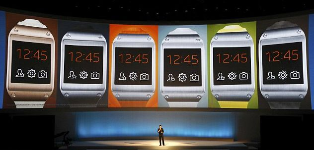 Pranav Mistry, at the IFA Berlin presents the Samsung Galaxy Gear Smartwatch