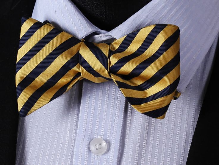 Self tie bow tie - Woven Jacquard silk in solid lemon yellow Notch GTbOwmqpm1