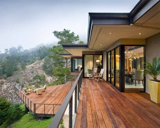 Home Decor Contemporary Wood Deck