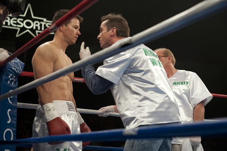 """""""The Fighter"""" movie still, 2010. L to R: Mark Wahlberg, Christian Bale."""