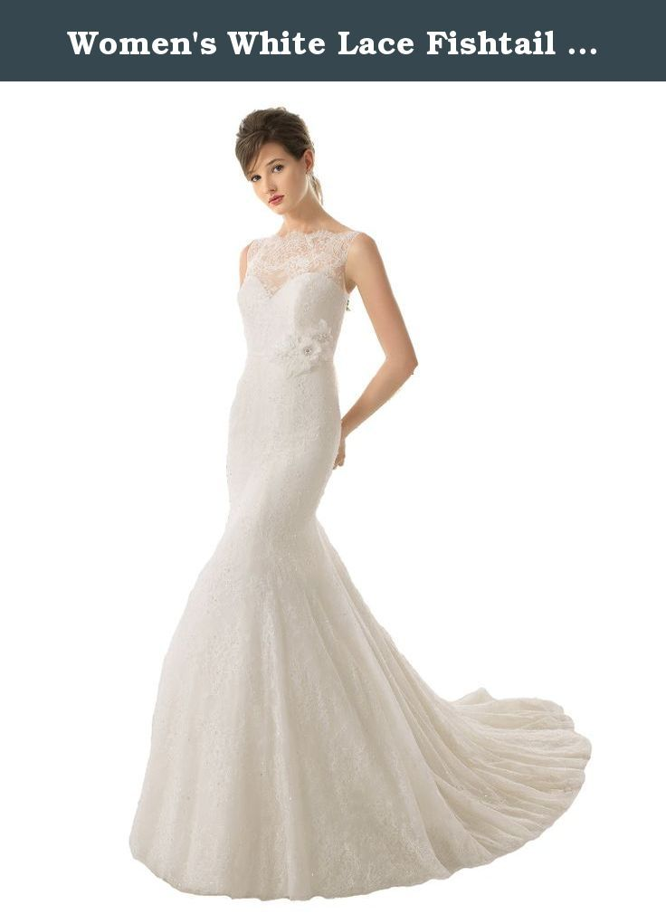 1000 ideas about fishtail wedding dresses on pinterest for White fishtail wedding dress