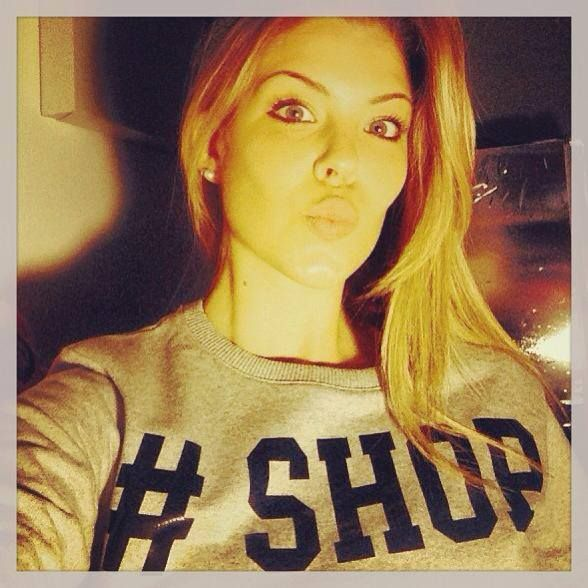 Only SHOP ART per la bellissima #costanzacaracciolo ! #shopart #sweatshirt #hashtagmania #fallwinter13 #collection #shopartonline